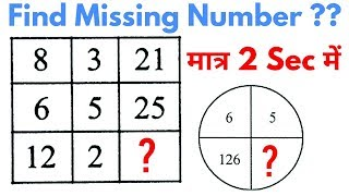 Reasoning Tricks in hindi | Missing number | For #Railway, SSC, BANK, CPO SI, CHSL, MTS & all exams thumbnail