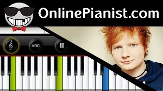 Ed Sheeran Touch and Go Piano Tutorial How to Play