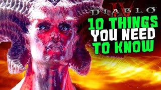 DIABLO 4: 10 Things You NEED to KNOW