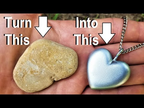 I make a heart pendant from a ROCK! (tutorial)  also sneak peek and I show you my pet dinosaur