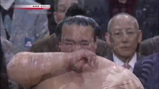Final day of grand Sumo tournament , Osaka march 2017. yokozuna Kis...