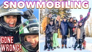 BIG BINGHAM FAMILY SNOWMOBILING GONE WRONG | EPIC FAIL WHAT CAN GO WRONG SNOW MACHINE AROUND IN UTAH