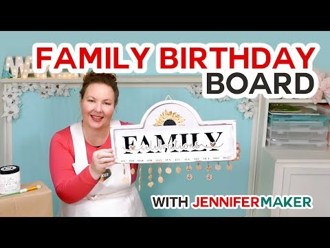 DIY Family Celebration & Birthday Board