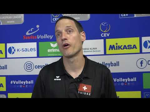 The head coach of Switzerland Timothy Lippuner after 3-0 over Kosovo
