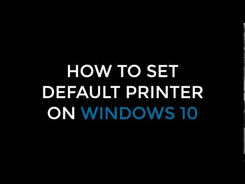 How to Set a Default Printer on Windows 7/8/8.1/10