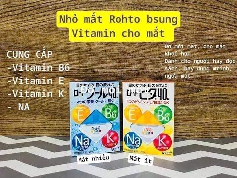 Thuốc nhỏ mắt của Rohto Nhật Bản
