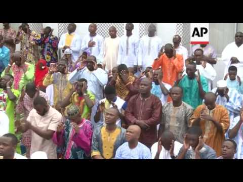 Muslims in Ivory Coast celebrate Eid al-Adha