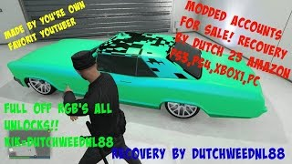 GTA 5 [PS3/PS4/PC/XBOX1] RECOVERY SERVICE BY DutchWeedNL88