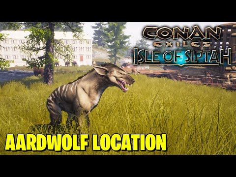 WHERE TO FIND AARDWOLF IN CONAN EXILES ISLES OF SIPTAH  