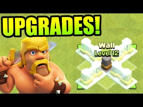 Clash Of Clans - LOOT SPENDING SPREE! - SO MANY NEW WALL LEVELS!!