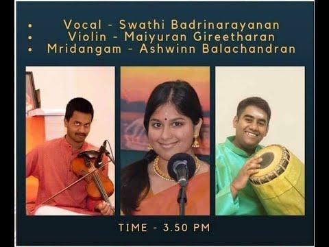 Upasana 2019 - Kum. Swati Badrinarayanan, Chi. MAiyuran Gireetharan, Chi. Ashwin Balachandran