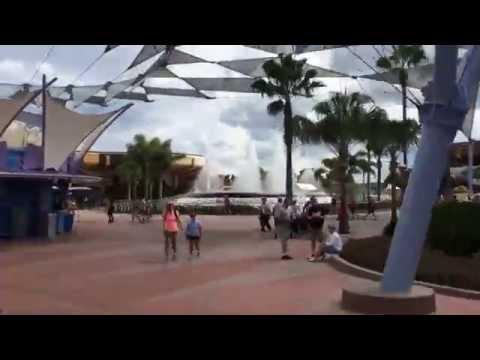 Time-Lapse walk through Epcot using the Hyperlapse app at Walt Disney World
