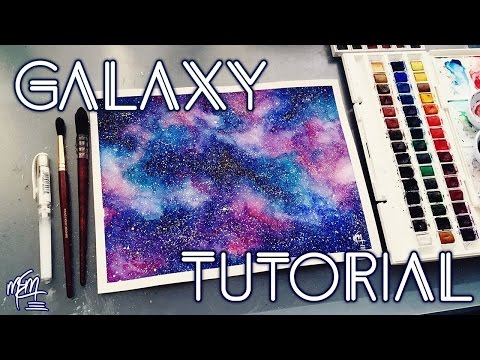 Galaxy painting tutorial speed painting doovi for How to paint galaxy