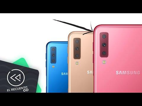 Samsung presenta smartphone con triple cámara (Galaxy A7 2018)   El Recuento Go thumbnail