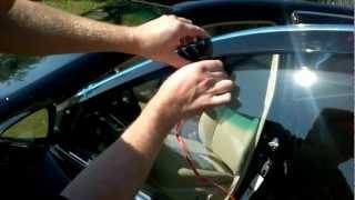 Дефлекторы боковых окон с хром накладкой Toyota Camry.