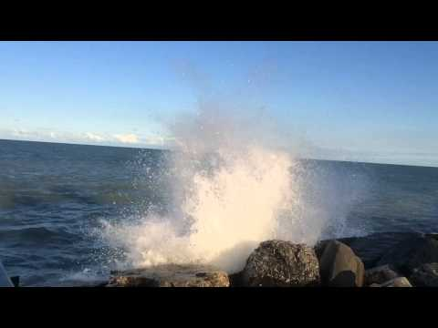 Waves crashing slo mo 1 of 2