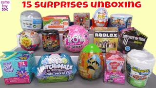Unboxing 15 Surprises Toys LOL Series 4 Incredibles 2 Paw Patrol Shopkins Trolls Roblox Kids Fun