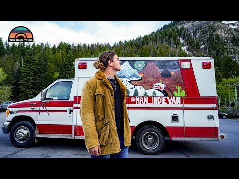 20 Year Old Lives Full Time In An Ambulance Conversion To Achieve Financial Freedom