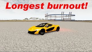 I beat Plk's longest P1 Burnout in Vehicle simulator | Roblox vehicle simulator #17