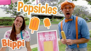 Blippi Makes Fruit Popsicles! | Learn Healthy Eating For Children | Educational Videos for Toddlers