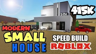 ROBLOX Bloxburg: MODERN SMALL HOUSE SPEED BUILD 415K