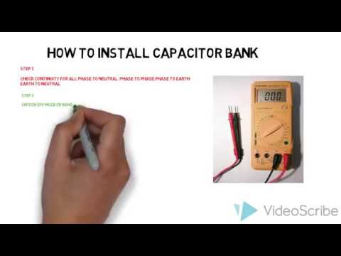 How to installation of capacitor bank 2017 new - YouTube