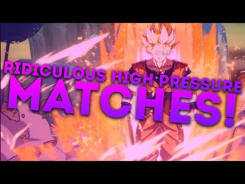 Dragon Ball FighterZ Ranked! - RIDICULOUS HIGH PRESSURE MATCHES!
