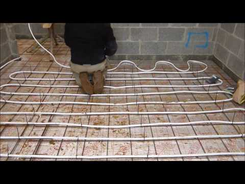 Underfloor heating .. Simple Cheap install Method.