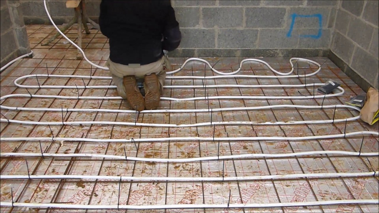 Underfloor Heating Simple Cheap Install Method YouTube - Cost of installing underfloor heating