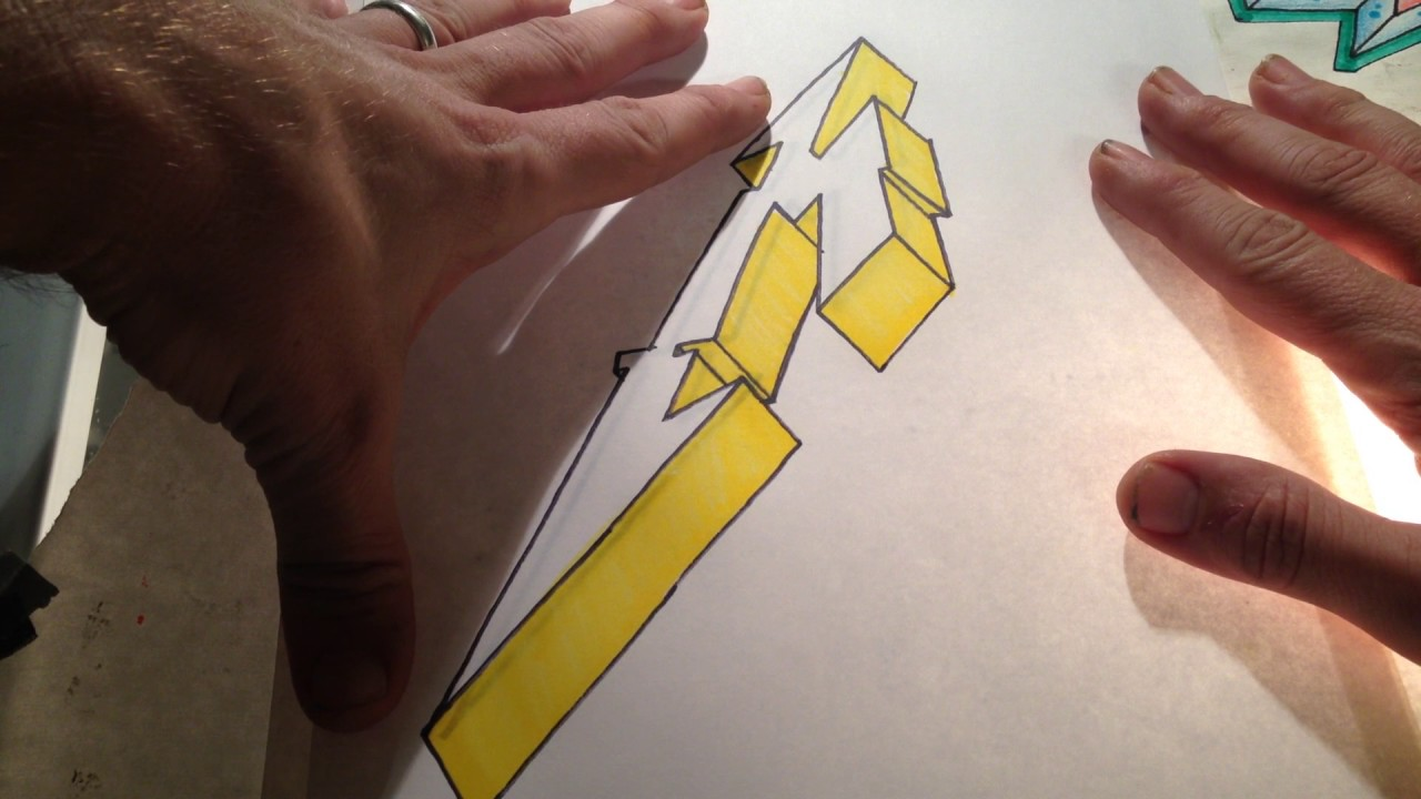 metallica how to draw their m letter logo in 3d