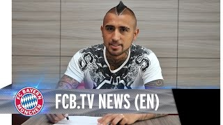 Arturo Vidal signs contract at FC Bayern
