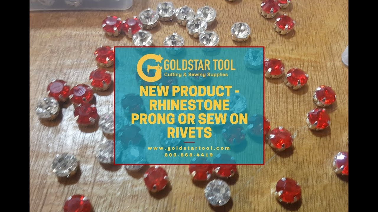 New Product - Rhinestone Prong or Sew On Rivets - Goldstartool.com - 800-868-4419