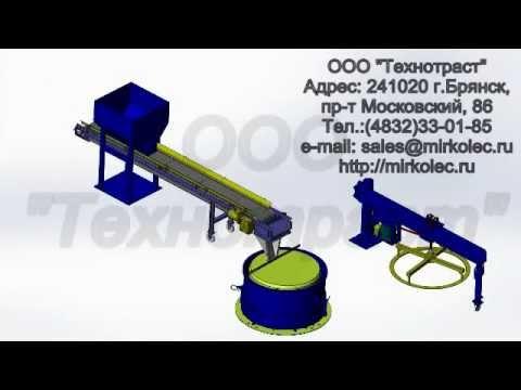 Работа пропарочной камеры для бетона и ЖБИ - YouTube