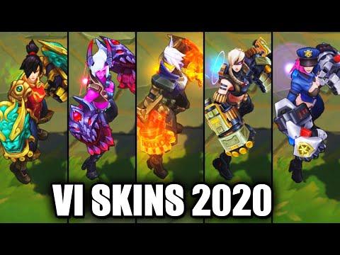 All Vi Skins Spotlight 2020 (League of Legends)