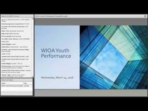 Youth Apprenticeship & Career Pathways Webinar March 14, 2018