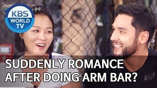Suddenly becomes a romance movie after doing arm bar?