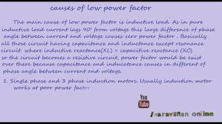 causes of low power factor