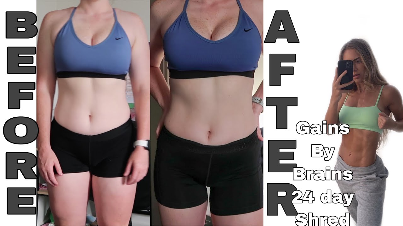 I TRIED GAINS BY BRAINS 24 DAY SHRED CHALLENGE | GET SHREDDY OVER CHRISTMAS | MY RESULTS IN 24 DAYS