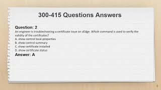 Cisco CCNP Enterprise 300-415 Exam Questions