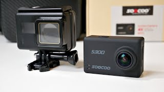 SOOCOO S300 4K Action Camera - Native 4K - 12MP - EIS - External MIC