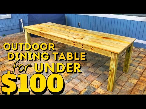 How to Build an Outdoor Farmhouse Table for Under $100 | Woodworking DIY Project