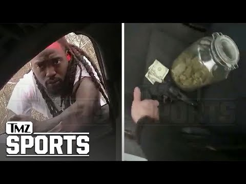 Alex Collins Arrest Video Shows NFL RB Had Jug Of Weed & Gun In Crashed Corvette | TMZ Sports
