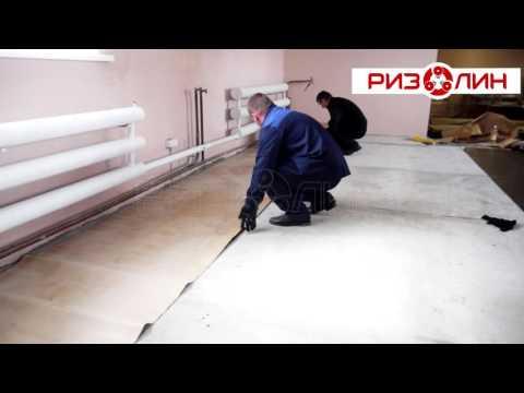 видео: Укладка напольной плитки на рулонный плиточный клей Ризолин Пол