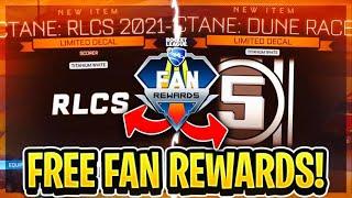 How To Get FŔEE *NEW* RLCS FAN REWARD DROPS On Rocket League!