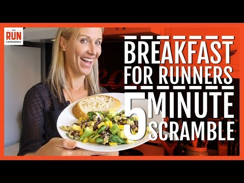 Power Breakfast For Runners | 5 Minute Veggie Scramble