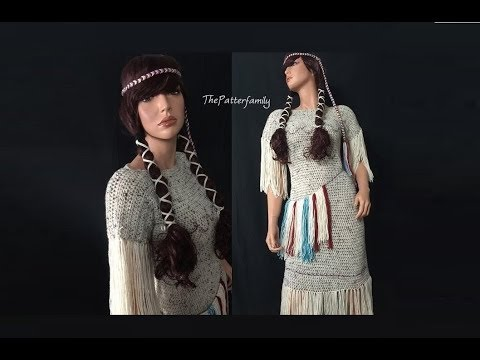 Native American Inspired Crochet Costume Pattern #321│by ThePatternFamily