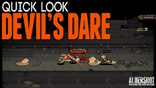 Devil's Dare: Quick Look (Indie game, arcade beat ' em up, gameplay and review)