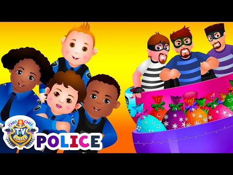 Thumbnail: ChuChu TV Police Chase Thief in Railroad Police Car & Save Giant Surprise Eggs Toys, Gifts for Kids