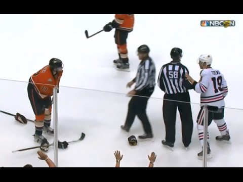 Jonathan Toews and Ryan Kesler Almost Fight