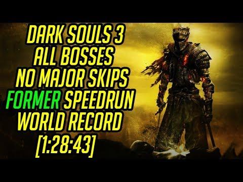 Dark Souls 3 All Bosses (No Major Skips) Speedrun World Record [1:28:43]